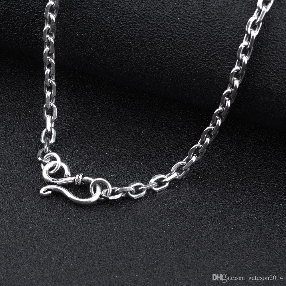 2018 925 sterling silver chain men necklace men jewelry 100 pure 2018 925 sterling silver chain men necklace men jewelry 100 pure silver necklace for women thai silver statement necklace n12 from gateson2014 mozeypictures Images