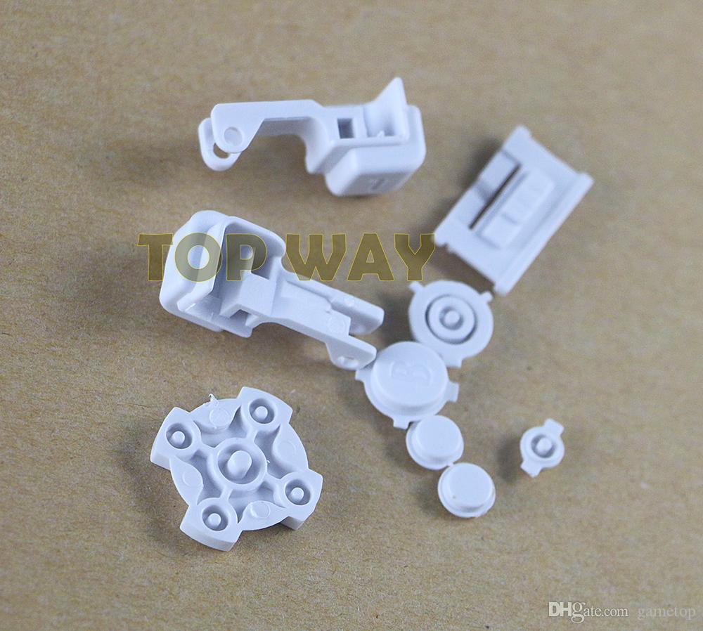 Botones de plástico A B Seleccionar Inicio L R Botones D Pad para GBA SP Botón completo