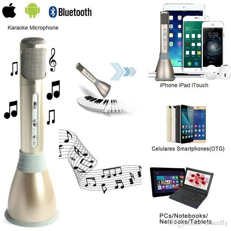2017 K068 Wireless Karaoke Player Condenser Microphone with Mic bluetooth  Speaker KTV Singing Record for Android IOS Phone Computer PK Q7 Q9