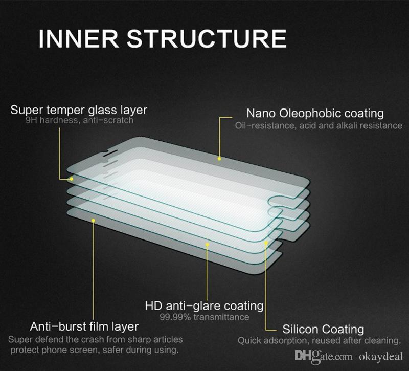 Para o vidro sony xperia m4 protetor de tela de vidro temperado para sony xperia m4 filme de vidro telefone para sony m4 50 pçs / lote
