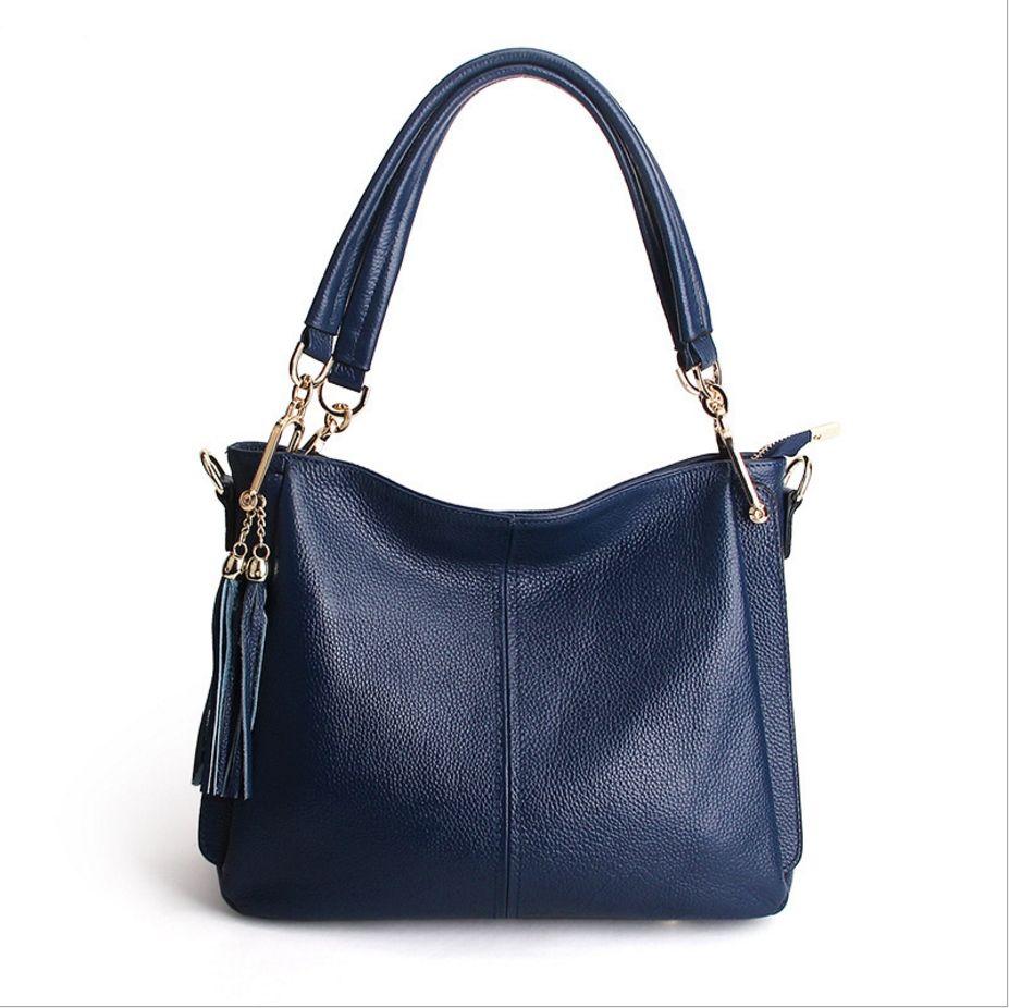 e0c5e610b2 2017 New Style Lady Fashion Handbag Women 100% Genuine Leather Shoulder Bag  Fashion Cowhide Handbag Big Space Black Bags Crossbody Purse From  Wanhao2017