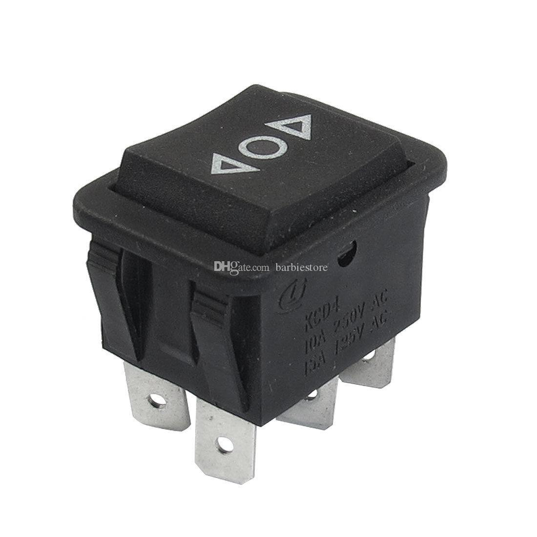 5X 6 Pin DPDT Botón negro On / Off / On Interruptor basculante AC 250V / 10A 125V / 15A B00403