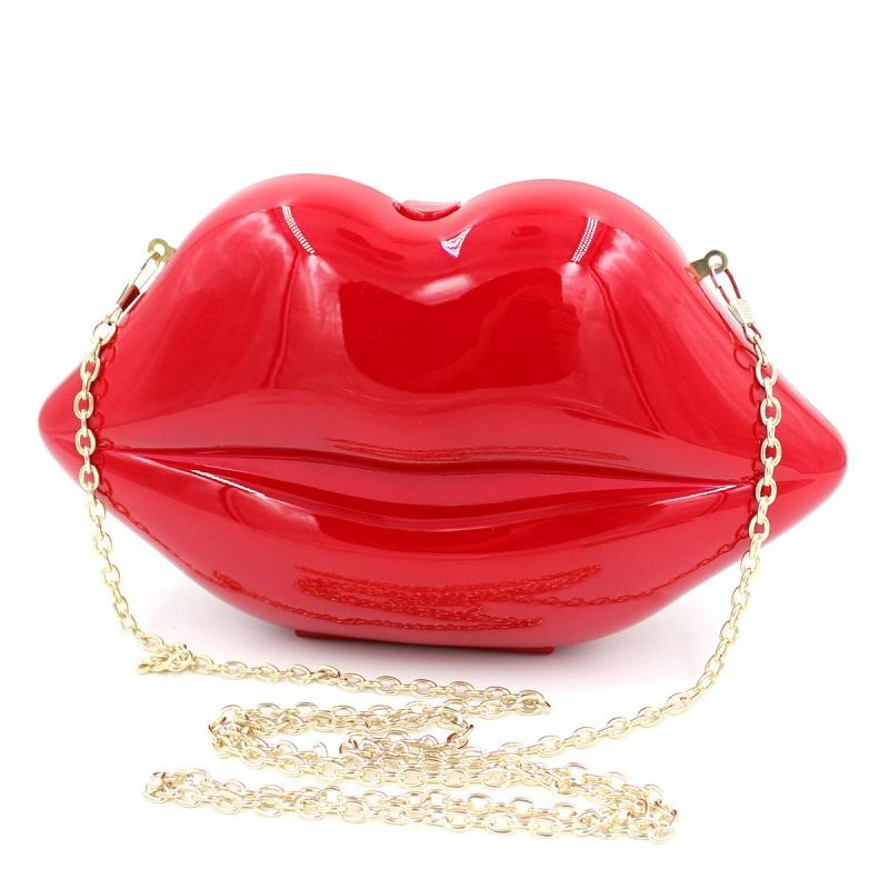 a32b9e22fc29 Wholesale Red Lips Party Evening Bags Rose Pink Acrylic Pearl White Clutches  Purses Designer Girls  Chain Bags Black Cross Body Bag XA711A Body Bags ...