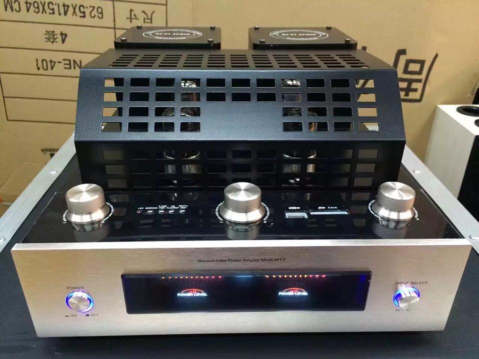 M12 HI-FI Amplificateur de tube Bluetooth Prise en charge de la lecture de la carte mémoire SD Bluetooth USB avec prise en charge de l'amplificateur de puissance Bluetooth 220V et 220V 220V et 110V