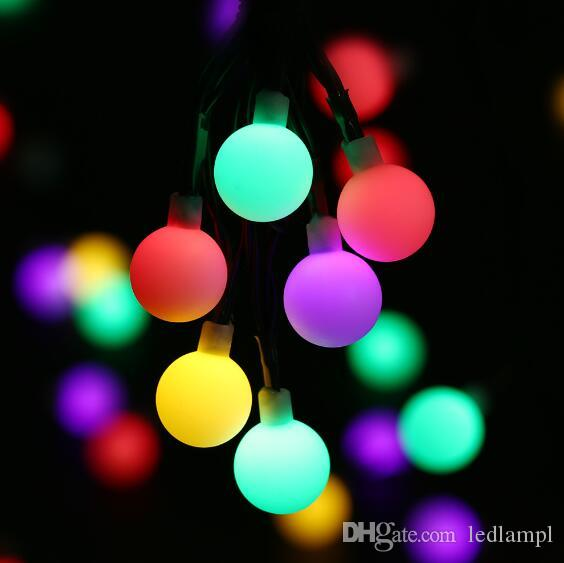 Solar Powered Outdoor Xmas Lights Globe solar powered christmas lights 21ft 50led multi color ball globe solar powered christmas lights 21ft 50led multi color ball string lights decorative lights for indooroutdoorgardenparty led string light solar workwithnaturefo