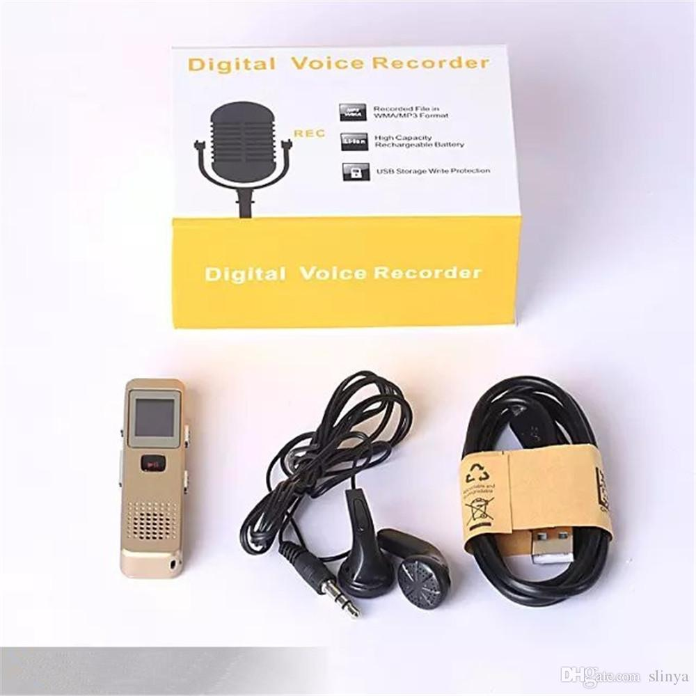 Mini registratore di suoni digitale professionale da 8GB USB di alta qualità Display OLED MP3 Registratore di suoni audio PCM WMA Player