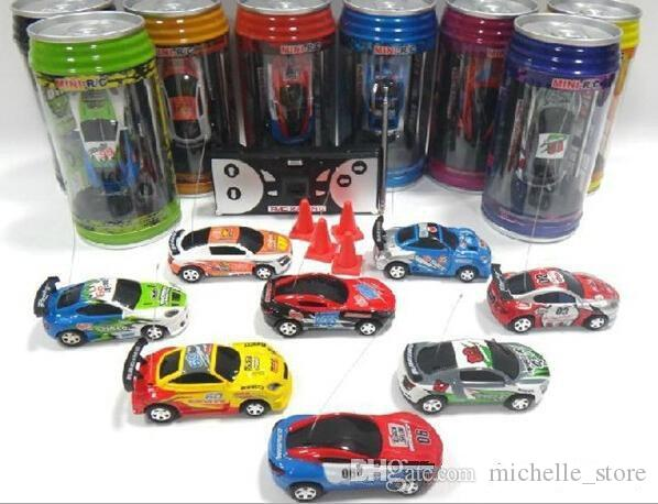 PERFECT NEWEST 8 color Mini-Racer Remote Control Car Coke Can Mini RC Radio Remote Control Micro Racing 1:64 Car 8803 Free ship