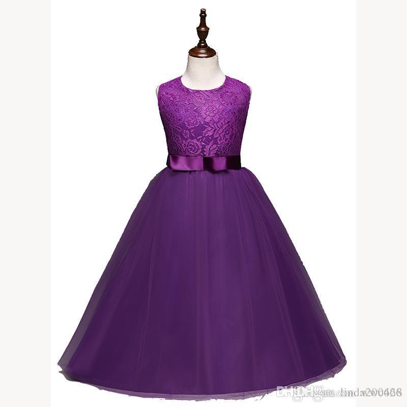 Compre Las Muchachas Largas Del Cordón De La Gasa Se Visten Vestidos ...