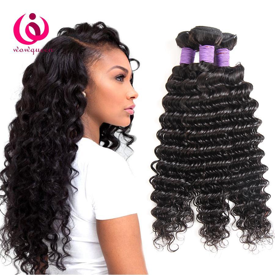 Cheap Malaysian Deep Wave Hair Weave Bundles Wow Queen Brand