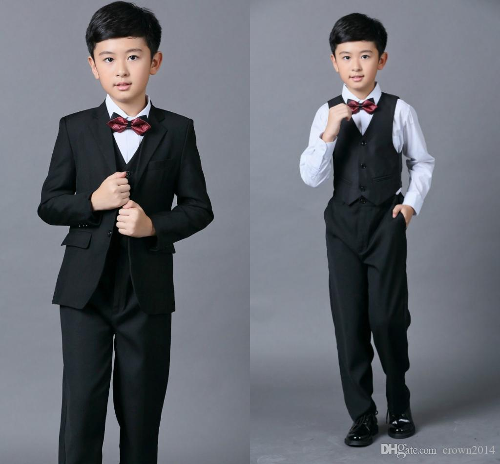 Cheap Boys Suits For Weddings Black Boy Suit Five Piece Suit Formal ...