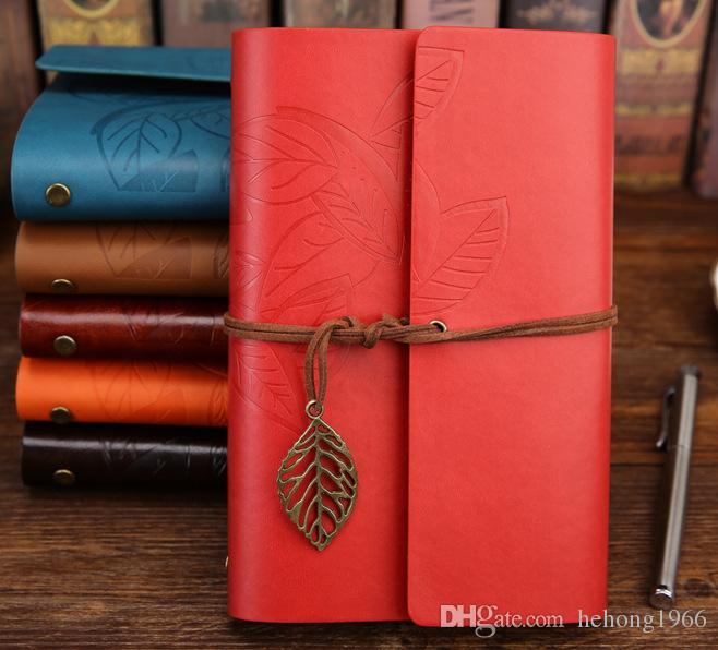 Notepad One Leaves Know Office Supplies With Tie The Rope Creative Notebook High Quality Hot Sell 4 8bs R