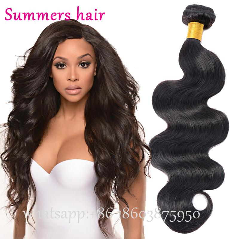 Summers Hair Brazilian Body Wave Hair Extensions 18 Inch 100% Unprocessed  Health Remy Virgin Human Hair Weft Bundles Natural Color Make Wigs Lace  Caps For ... 25d04b117b