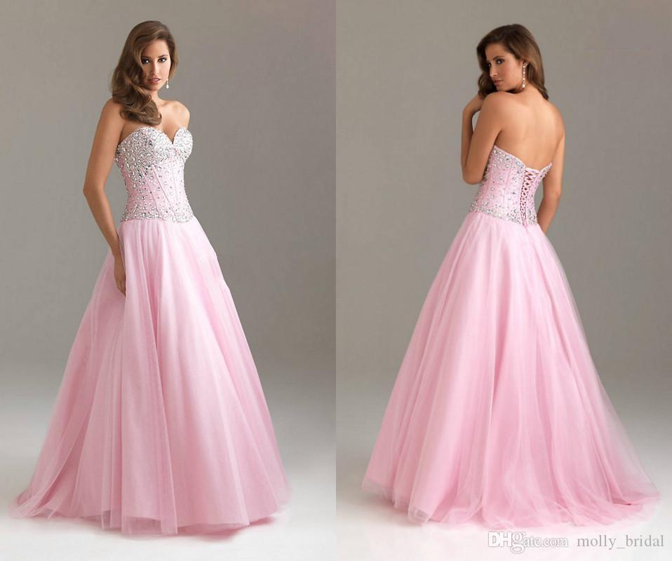 Compre Vestido De Fiesta De Los Cristales Precio Barato Cuello De ...