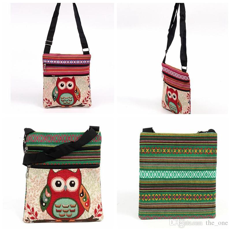 New Fashion Cute Kids Embroidered Owl Messenger Bag Girls Mini Shoulder Bag  Women Female Vintage Cute Phone Crossbody Post Bag Rolling Backpacks On  Sale ... 4c033e691de7f