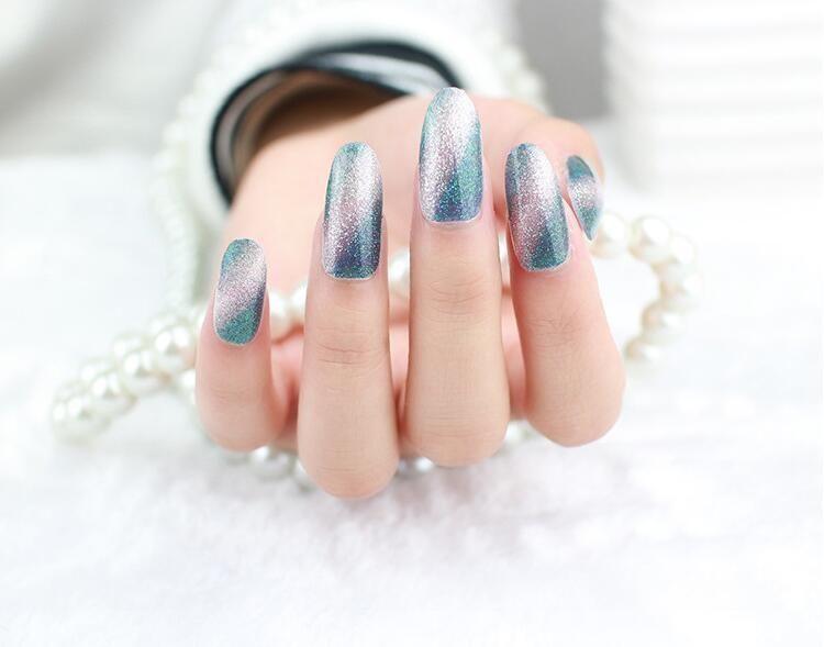 New Manicure Glitter Gradient Acrylic Sticker Adhesive Nail Art