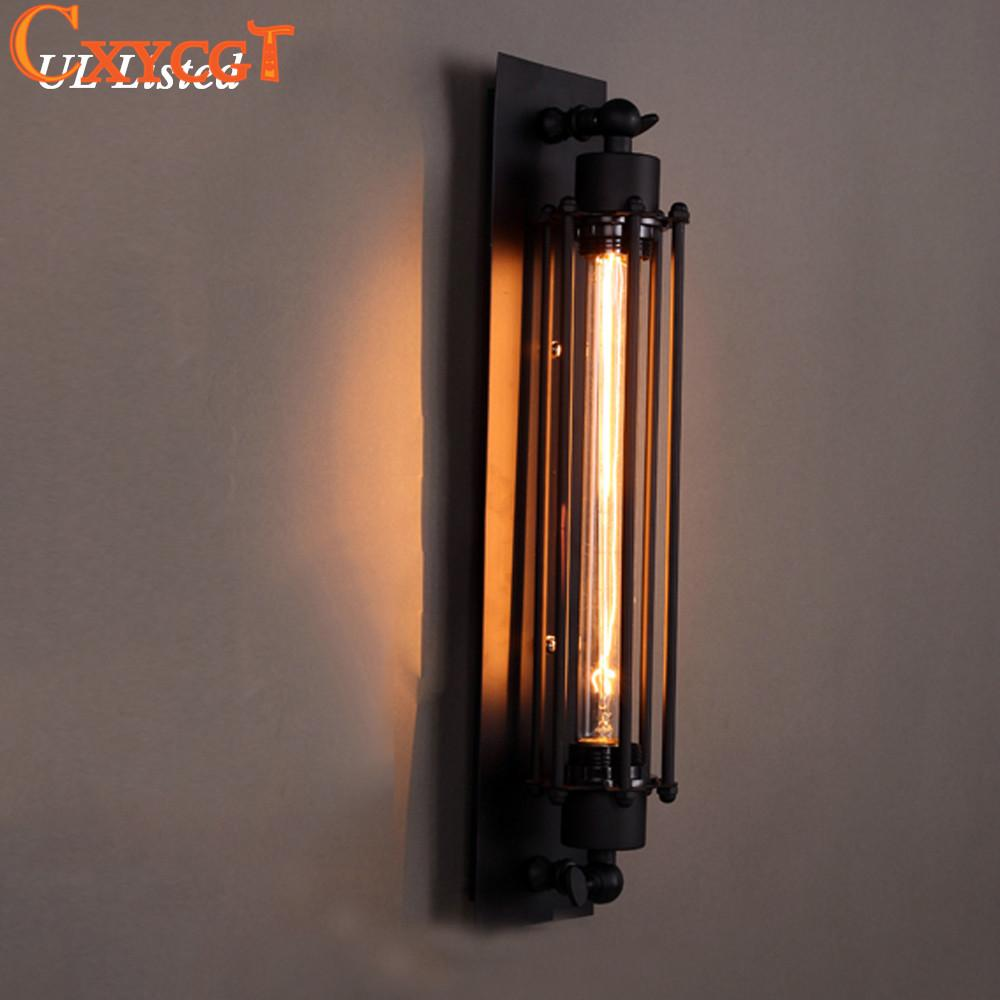 Online Cheap Vintage Industrial Iron Wall Sconces Lighting Wall Lamp Light For Bedroom Kitchen