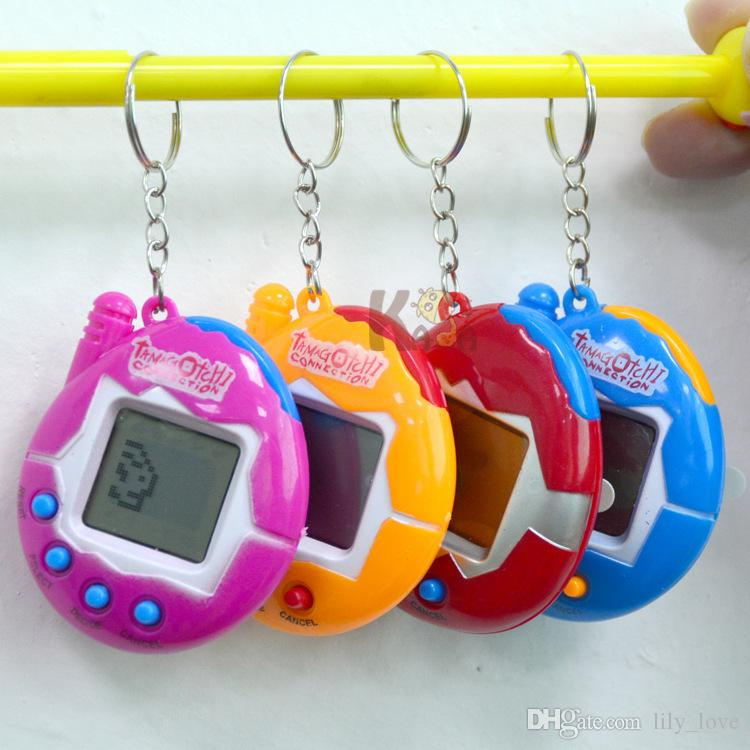 DHL New Retro Game Toys Pets In One Funny Toys Vintage Virtual Pet Cyber Toy Tamagotchi Digital Pet Child Game Kids with Nostalgic Keychain