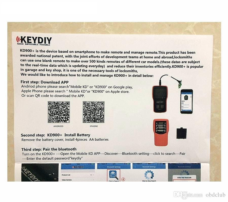 New Version Original KEYDIY KD900 Plus Remote Maker the Best Tool for Remote Control KD900 Auto Key Programmer DHL Free