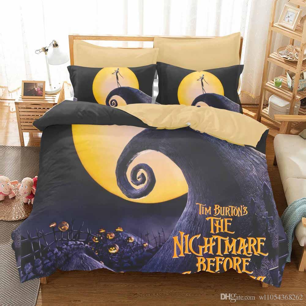 Home Textile 3D Nightmare Before Christmas Bedding Set di levigatura Bedding copripiumino comprendono pernottamento Diffusione federa adulti