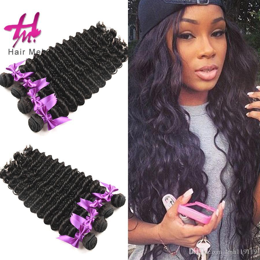 4 Bundles Brazilian Deep Wave Hair Weaving Natural Hairwigs For