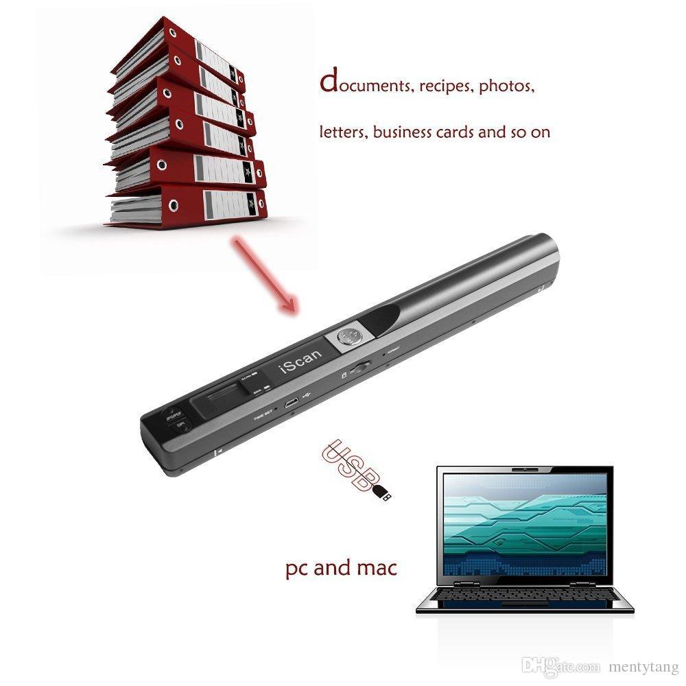 MINI WAND SCANNER portátil 900DPI PORTATIL LCD AHandhold Scanner Pen Fotoeléctrico ASensor de imagen iScan