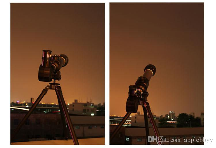 Télescope astronomique HD avec enfants multidisciplinaires explorant les jouets 20x30xx