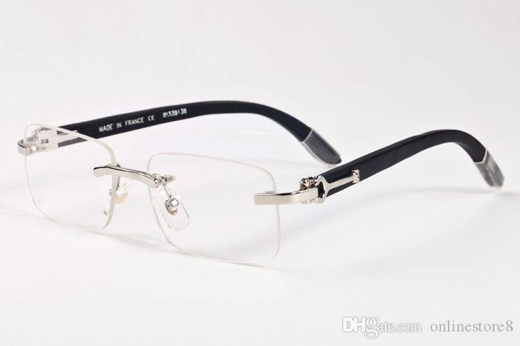 فرنسا تصميم الرجال النظارات فرملس البني البيج أسود خشبي بافالو القرن نظارات ماركة نظارات النظارات البصرية النظارات الفاخرة