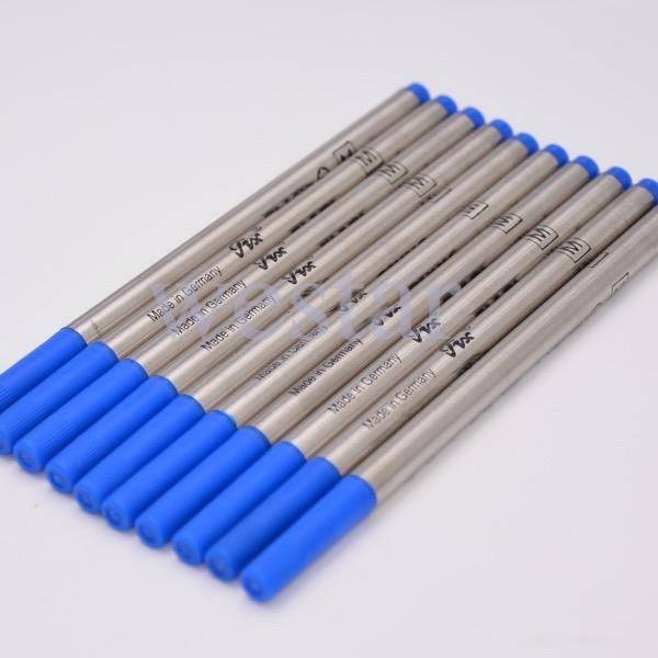 Hot Sell-10 Stück gute Qualität blaue Tinte Refill für Roller Kugelschreiber glatt schreiben Mb Pen Refills