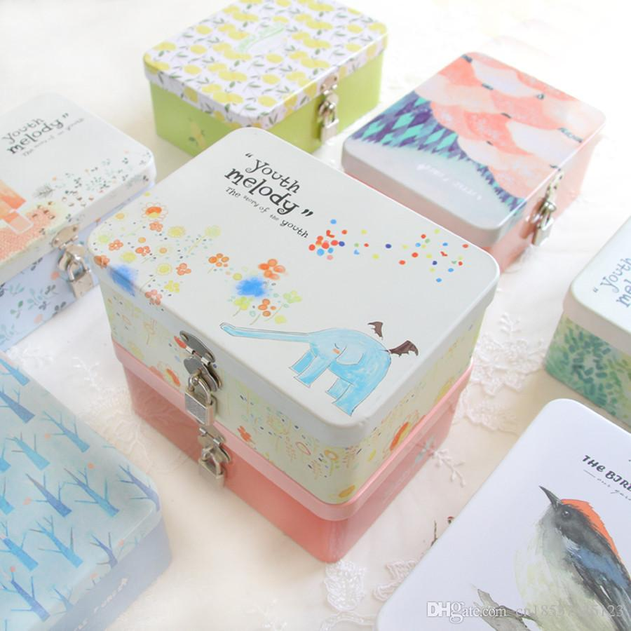 Japan Style Large Size Retro Coin Box Cute Cartoon Tin Boxes Tea ...