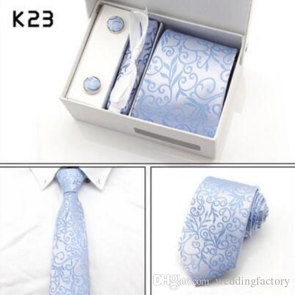 التعادل حار الأزياء ربطة العنق العلاقات الكلاسيكية رجل الأعمال الرسمي الزفاف الأزرق الداكن رمادي التعادل للرجال اكسسوارات التعادل + hanky + cufflinks