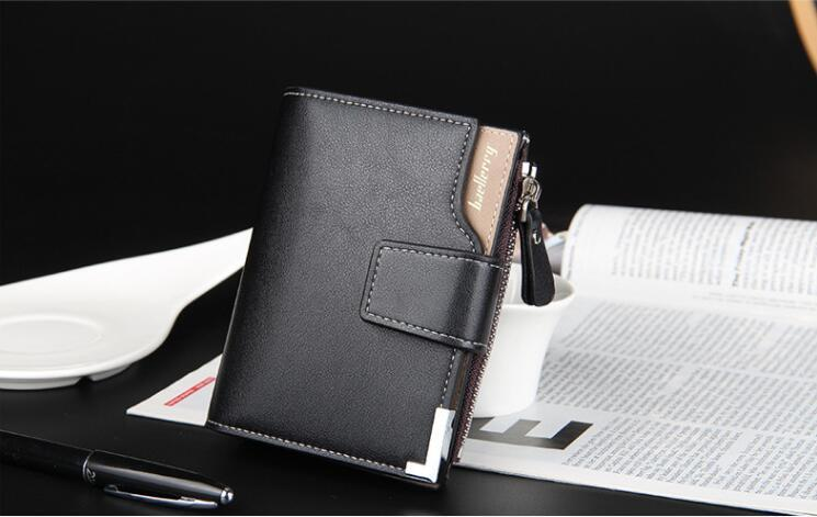 Brand Wallet men leather wallets purse short male clutch leather wallet mens money bag high quality