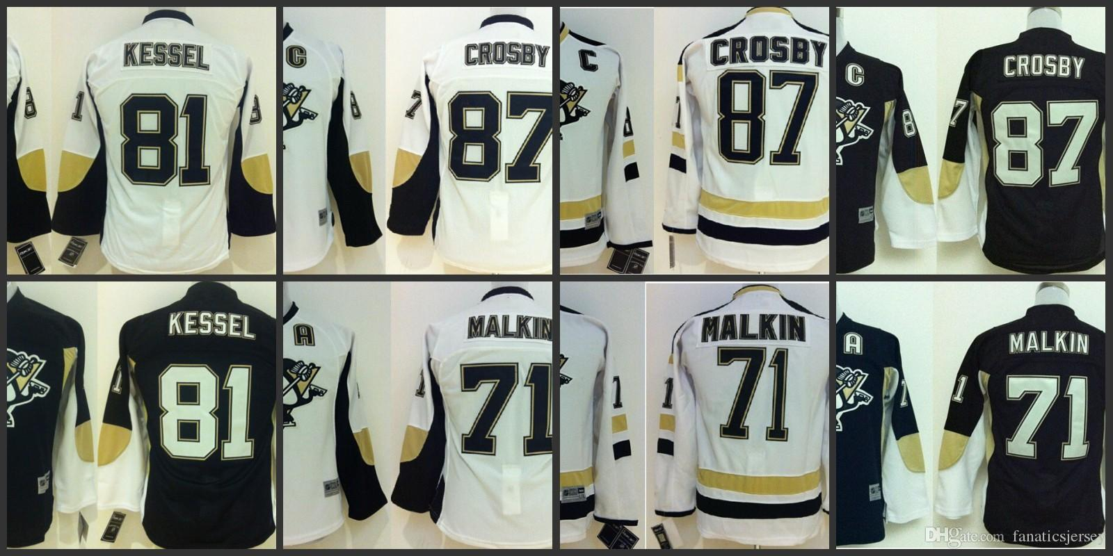 a0e4193eeed ... 2017 Pittsburgh Penguins Nhl Kids Jersey White Black Hockey Jersey 87  Sidney crosby 81 Phil kessel Pittsburgh Penguins 71 Evgeni Malkin ...