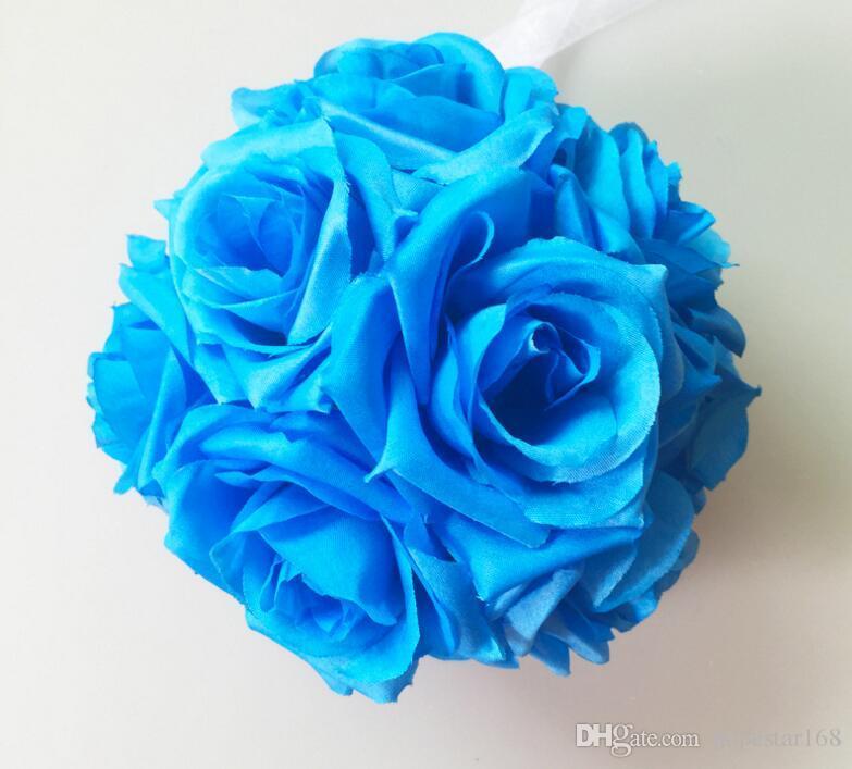 15cm 직경 인공 실크 플라워 장미 공 결혼식 센터 피스 파티 장식을위한 Pomander 꽃다발 장식 꽃 13 색