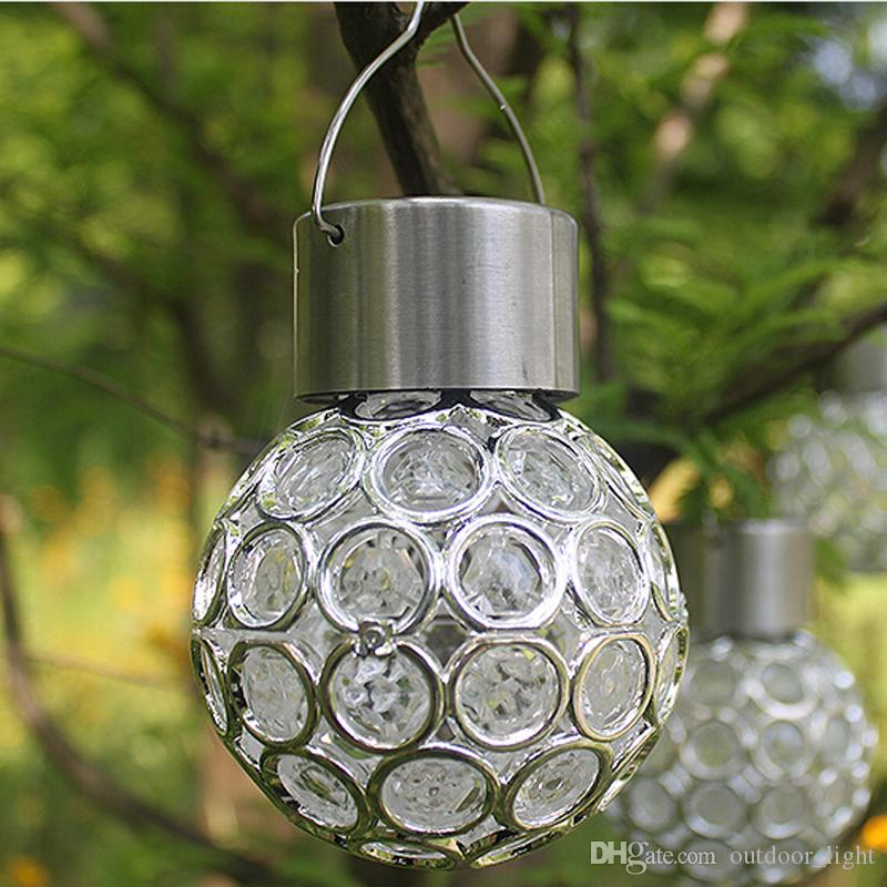 2018 solar powered color changing outdoor hanging lights ball 2018 solar powered color changing outdoor hanging lights ball crackle glass led light hang garden tree lawn lamp yard decorate lamp from outdoorlight aloadofball Gallery