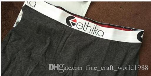 free Wholesale - Ethika Men's Underwear Boxer Dark Charcoal Cotton Spandex