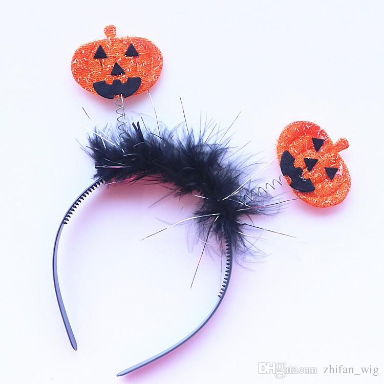 Z&F Halloween Hair Clasp Headwear Trick Kids Child Happy Day Party Headbands Bat Wholesale Price Skull Pumpkin
