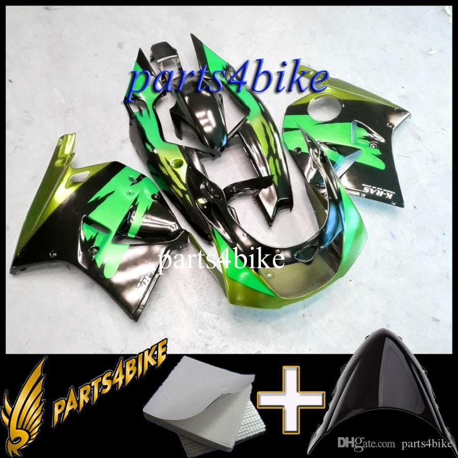 ABS Verkleidung für Kawasaki ZXR250 93 97 ZX R250 1993-1997 93 94 95 96 97 lila pink schwarz Motorrad Body Aftermarket Kunststoff