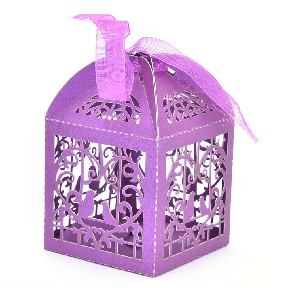 Wholesale Pack Cartoon Bird Love Heart Laser Cut Gift Candy Boxes