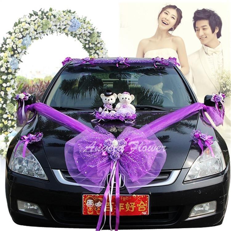 Online Cheap Wholesale New Eva Foam Wedding Car Flower Loves Bears