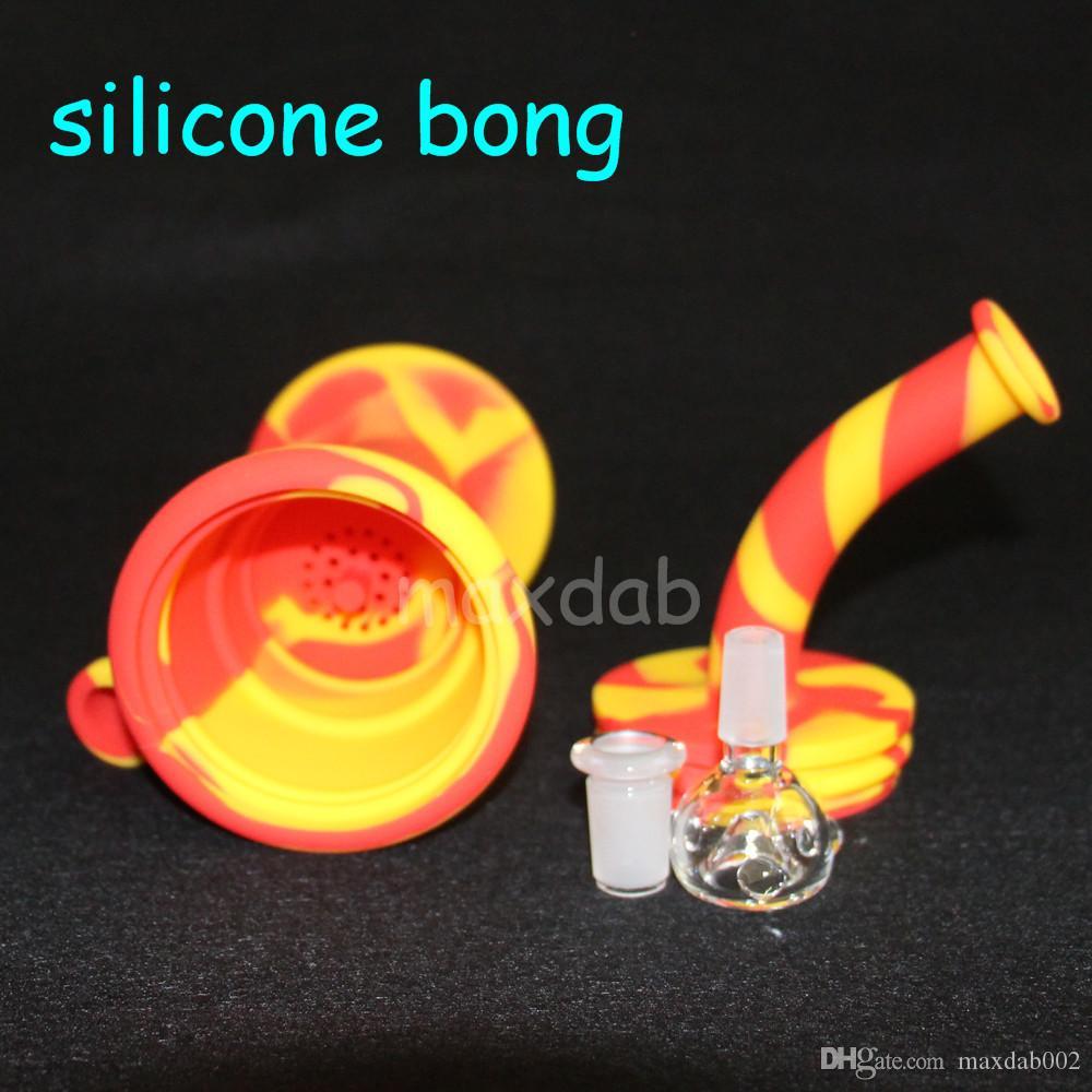 vendita all'ingrosso beaker in silicone bong vetro bong 10.4