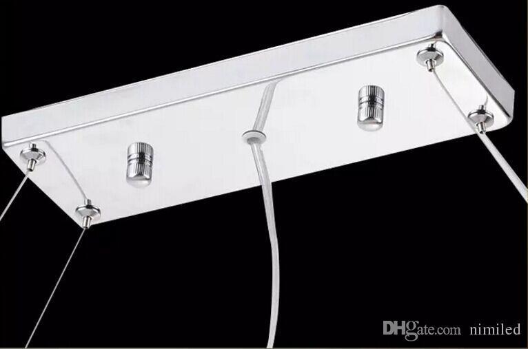 Plafoniere Rettangolari Cristallo : Acquista moderno k rettangolo led lampadario di cristallo lampada