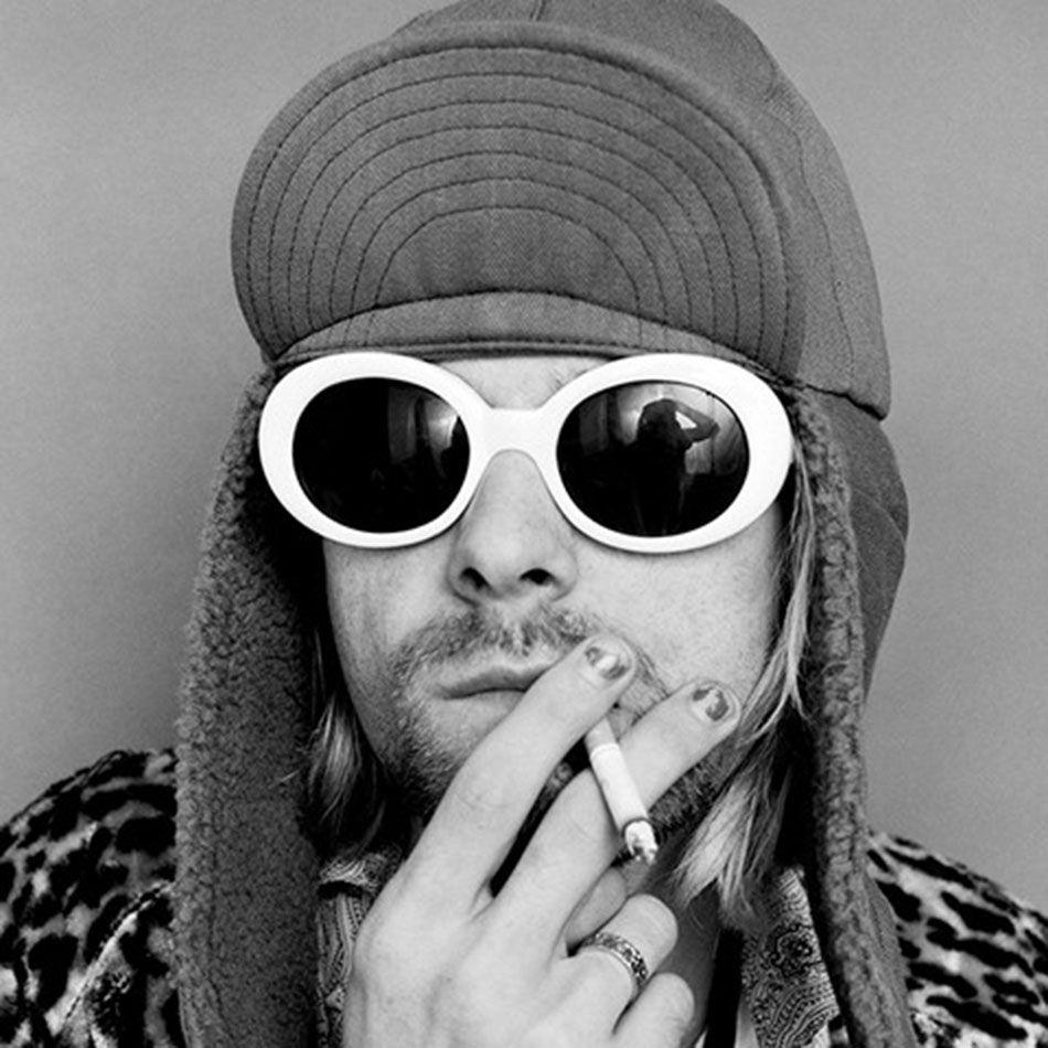 8c7b38ed158 NIRVANA Kurt Cobain S  90s Style White Oval Sunglasses Men Women Retro  Vintage Inspired Alien Shades Thick Frame Glasses Cheap Designer Sunglasses  ...