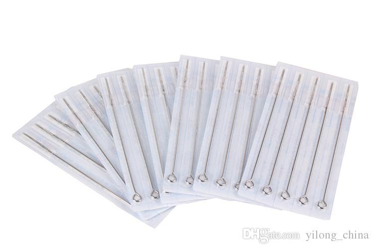 9RS Einweg Sterile Tattoo Nadeln 9 Runde ShadersFor Tätowierpistole Sets Tinte Grips Tattoo Supplies