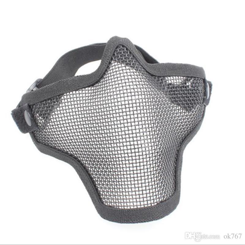 Boutique Caça Mental Tático Fio Meia Máscara de Bicicleta Ao Ar Livre Equitação Campo Ao Ar Livre CS Malha Máscara de Airsoft Paintball Resistente