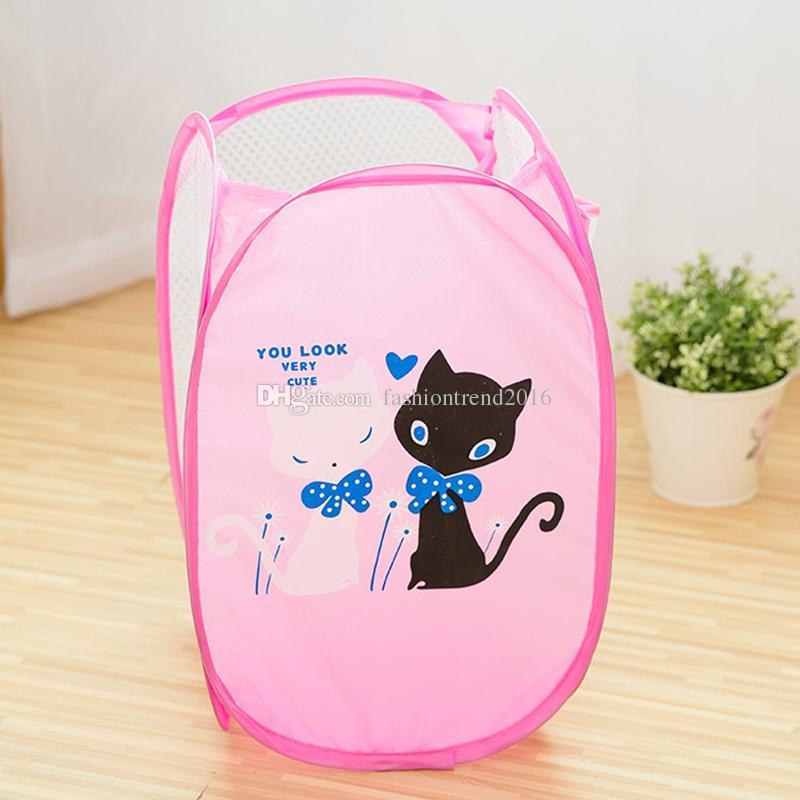 Portable Folding Cartoon Clothing Case Laundry Basket Bag Hamper Baskets For Toys Dirty Clothes Garment kids Clothing Storage