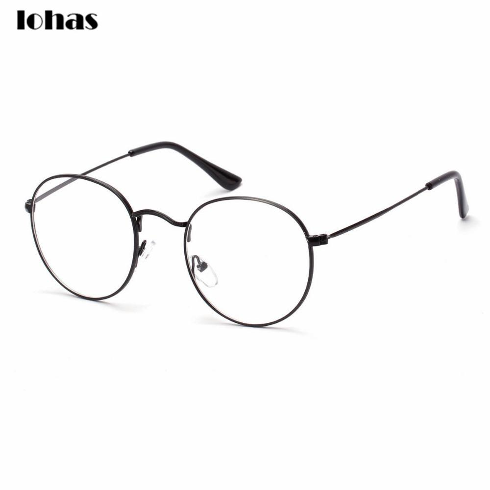 aac9cdfa2dd4 2019 Wholesale Large Oversized Metal Frame Clear Lens Round Circle Eye  Glasses Horned Rim Glasses Small Size Thin Frame Unisex Glasses From Tonic