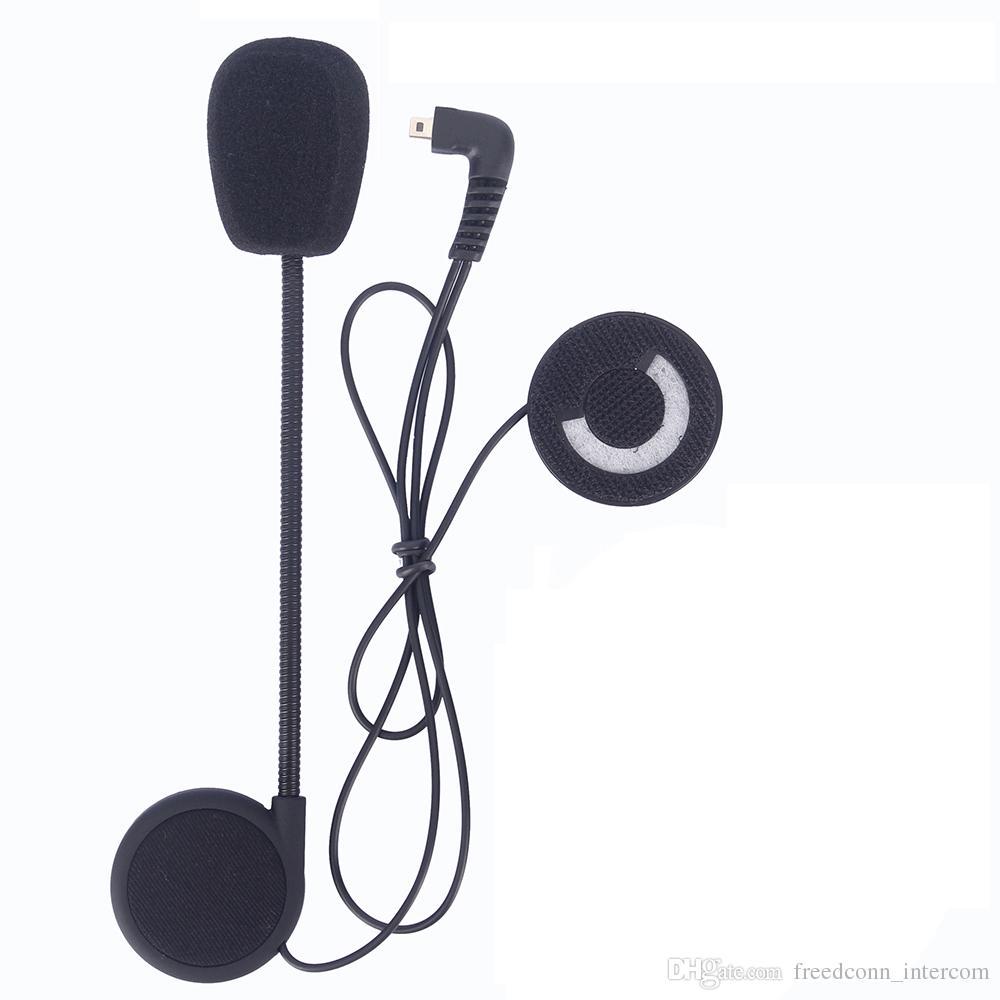 Accessoires d'interphone de casque de moto de Freedconn Microphone Écouteur et agrafe approprié à T-COMVB, pièces d'interphone de bluetooth de TCOM-SC