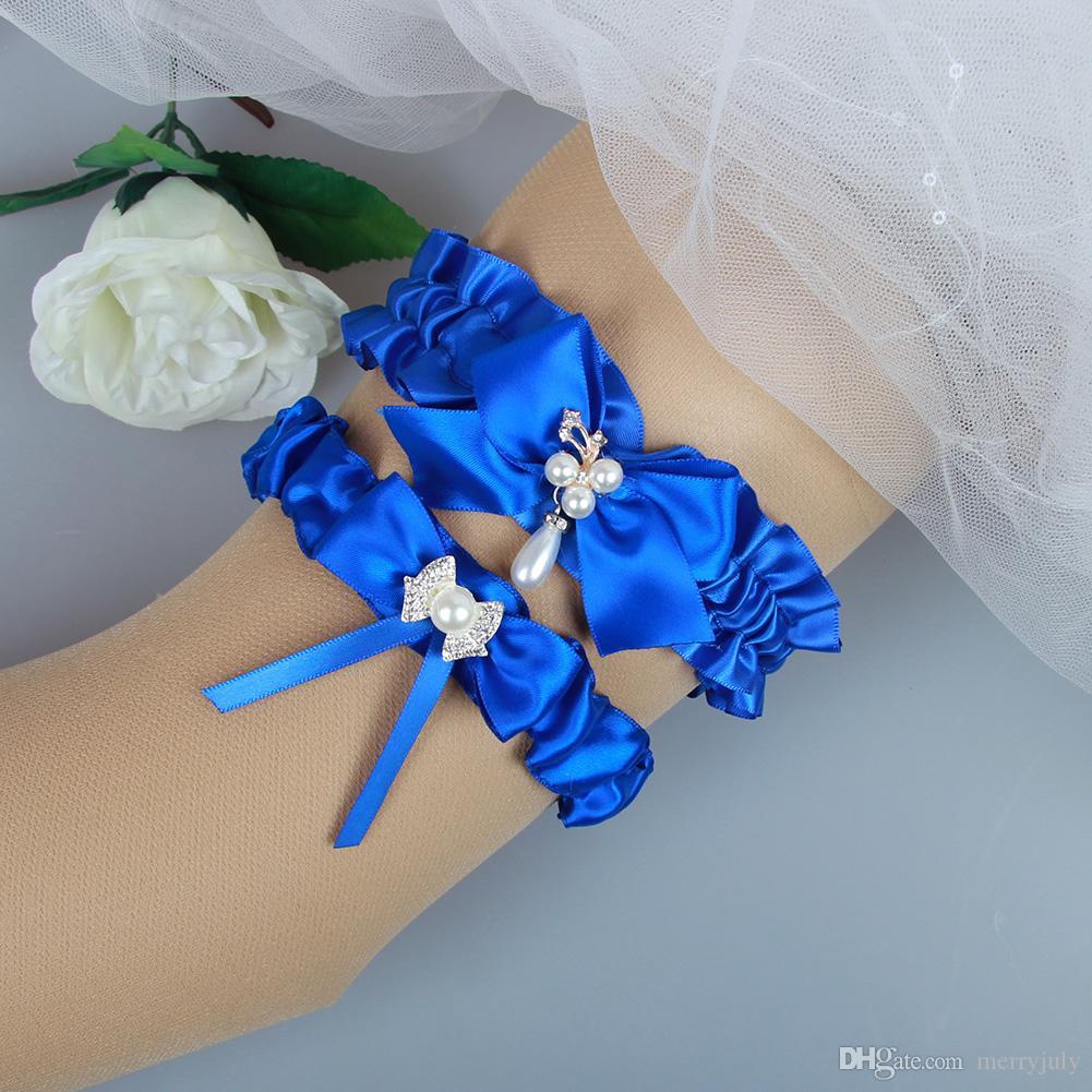 Black Royal Blue Prom Garter 2017 Bridal Wedding Garter