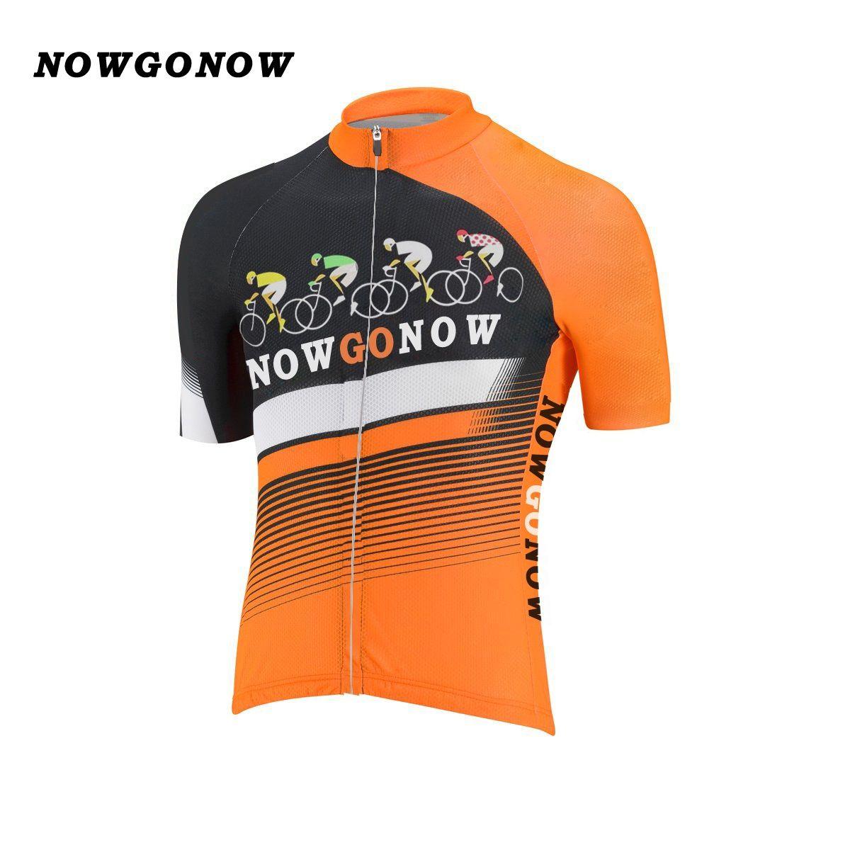 Wholesale Can Custom Men 2017 Cycling Jersey Pro Team Clothing Bike Wear  Orange Black NOWGONOW Tops Road Mountain Triathlon Summer Quick Dry  Bugatchi Shirts ... 2cb70fd3d