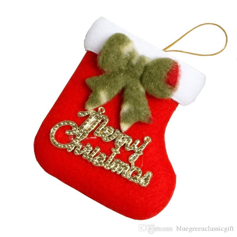 funny christmas stockings decorations christmas tree ornaments supplies santa claus xmas decorations candy gift bag 7x8cm christmas room decorations - Funny Christmas Stockings